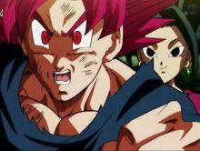Goku sorpreso dalla velocità di Kefla