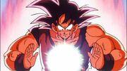 Goku utilse l'énergie
