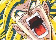 Broly desatando su ira