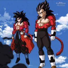 Son Goku (Xeno) e Vegeta (Xeno)