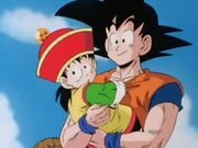 Goku and gohan beginning of dbz