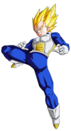 Render de Vegeta Super Saiyajin