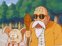 Roshi and Oolong shocked to hear that Goku defeated that army