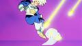 Goku Dodges Gohan's Attack