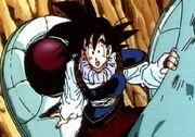 Goku llega a la Tierra