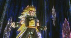 Bardock se transforma en Super Saiyan 3