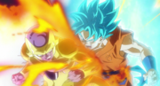 Son Goku SSB vs Freezer gold