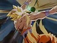 Goku despues de acabar con broly