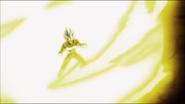 Vegeta cargando la Explosión Final (DBS)
