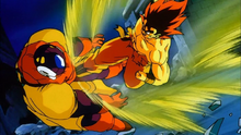 Fake Super Saiyajin vs Slug