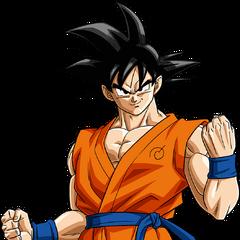 Son Goku con la tuta firmata da Whis.