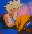 Slug punchs gohan in the stomach