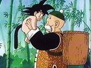 Grampagohanholding goku as baby