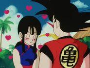 Goku se le propone a Chi-Chi