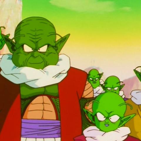 L'Anziano Moori presenta Dende a Goku.