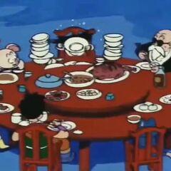 Son Goku e amici cenano al Delicious Saikan.