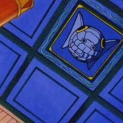 La botola sul soffitto dalla quale precipita chi entra nel palazzo.
