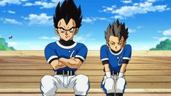 Cabba and Vegeta baseball match