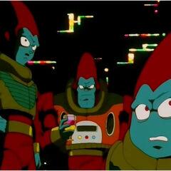 I Fratelli Parapara a bordo della loro astronave.