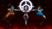 Zamasu fusione contro Vegeta e Goku