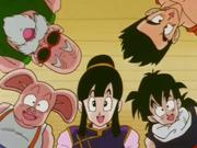 Chichi e gli altri vedono il sorriso di Goku