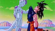 Freezer dopo aver malmenato Son Goku