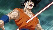 Goku colpito da Sorbet