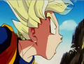 Goten coughing up spit