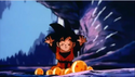 Goten trying to summit shenron