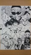 Masaki Sato's drawing of the Tenshinhan Saga