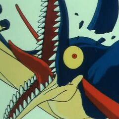 Lo pterodattilo che viene sconfitto da Son Goku.