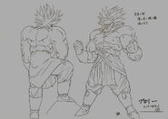 Sketch DBZ11 Broly Legendario