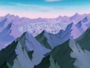 Ciudad del norte en las monstañas