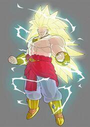 Goku ssj4 vs broly ssj3 by opunu