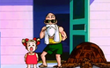 Marron with Master Roshi and Turtle