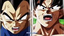Vegeta et Goku face a Jiren