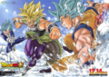 Goku et Vegeta vs Broly (DBS)