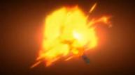Goku transformandose en un SSG