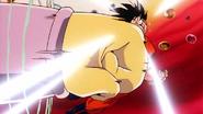 Janemba hits Goku