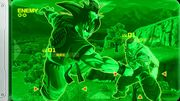 Goku and Piccolo in the scouter of the Future Warrior