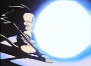 Goku lanza el Kamehameha