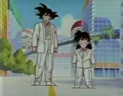 Goku y gohan con esmoquin