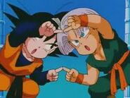 Goten y Trunks antes de hacer Gotenks Gordo.