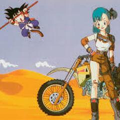 Una moto da cross nella sigla finale di Dragon Ball.
