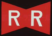 Raudonojo kaspino armijos logotipas dragon ball