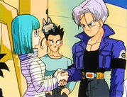 Trunks saying goodbye