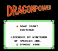 Dragon Power - Pantalla de título