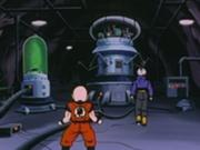 Krillin Y Trunks dentro del Laboratorio