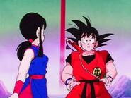 EP152DB Goku presenta a la Princesa Chi-Chi como su esposa