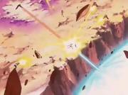 Piccolo Tenshinhan Yamcha e Crilin intervengono contro Cell